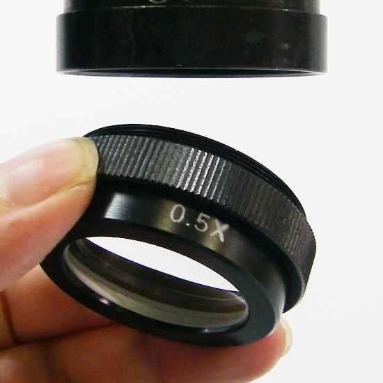 0.5倍補助レンズ