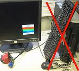 パソコン本体、キーボード、マウス、ソフトは不要
