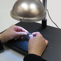 ドーム式照明付低倍率ハイビジョンマイクロスコープ