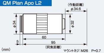 QM Plsn Apo L2の寸法図