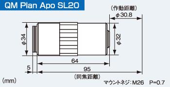 QM Plsn Apo SL20の寸法図