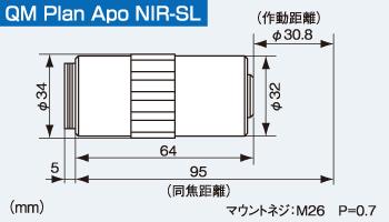 QM Plsn Apo NIR-SLの寸法図
