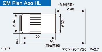 QM Plsn Apo HLの寸法図