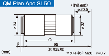 QM Plsn Apo SL50の寸法図