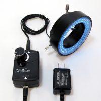 青色LEDリング照明