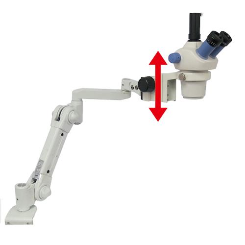 ズーム式三眼実体顕微鏡 (スムースアーム付 粗動アングルタイプ)