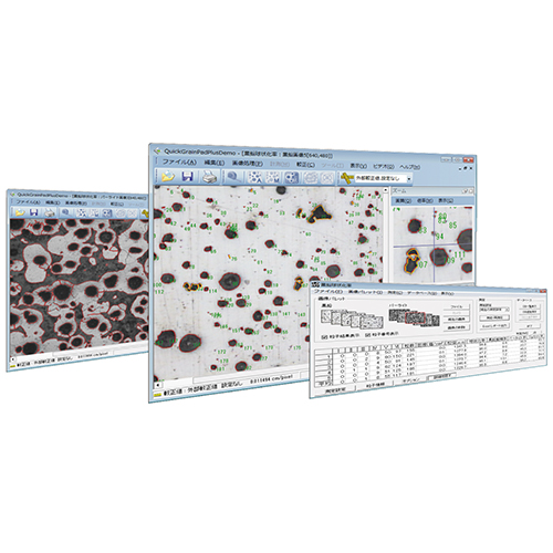 黒鉛球状化率計測ソフト