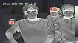 監視カメラ型サーモグラフィー
